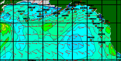 24-Hour Swell Model Image